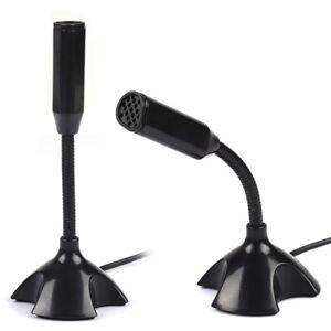 4599ff1b4907 USB Stand Mini Desktop Mic for PC Laptop Studio Speech Microphone ...