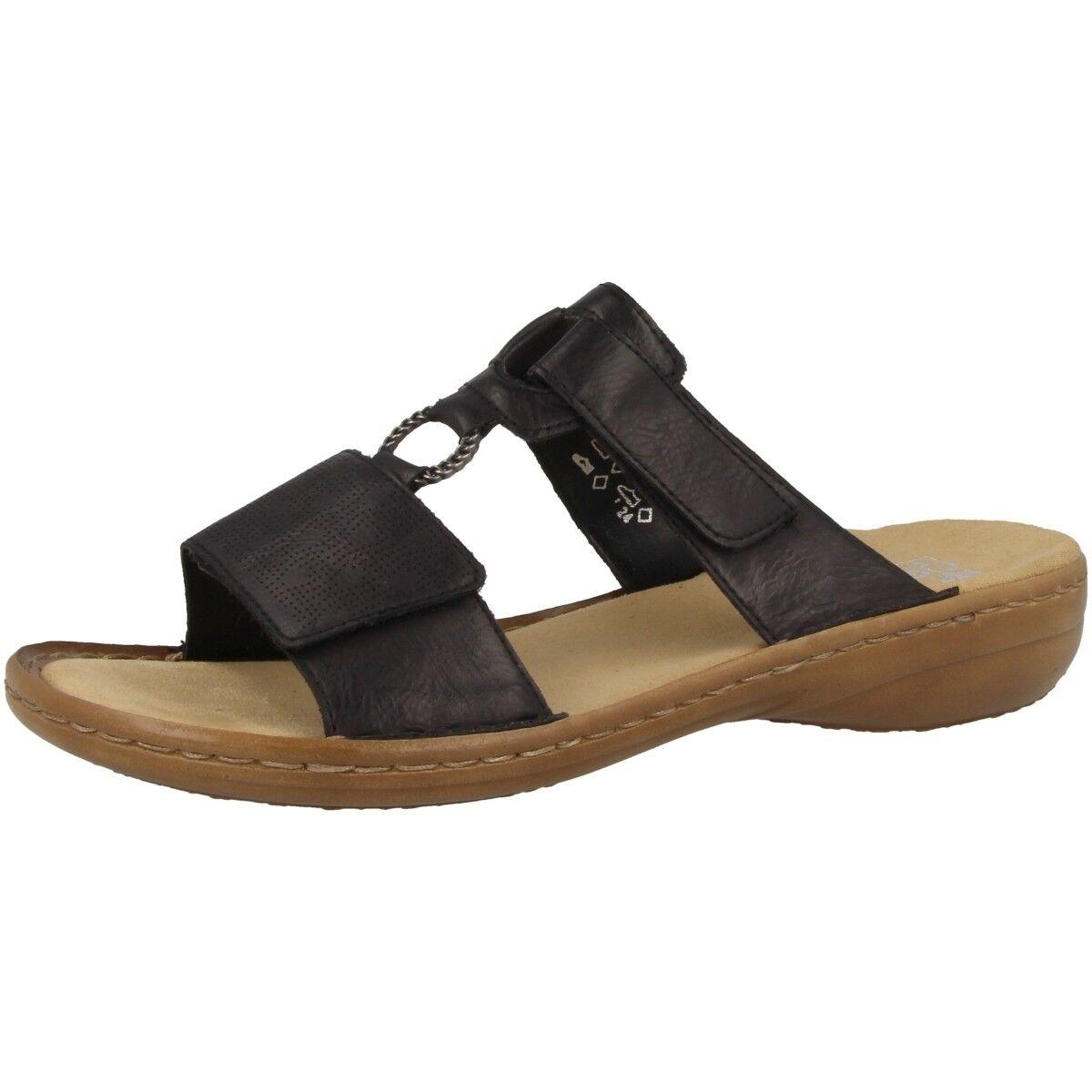 Rieker Eagle Scarpe Sandali da Donna Sandali Tempo Libero Slipper nero 60885-00 | Rifornimento Sufficiente  | Scolaro/Ragazze Scarpa