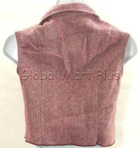 Vest Shirt Top Collar Sleeveless Graphic Belt Burgundy Red Youth Girls Cleo Dot