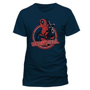 Official-Deadpool-Logo-Point-T-Shirt-Marvel-Movie-Antihero-M-XL-New