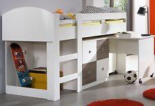 KIRA Jugendbett Etagenbett Hochbett mit Schreibtisch 90 x 200 Weiß Weiss Eiche