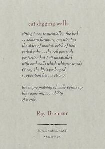 RAY-BREMSER-034-CAT-DIGGING-WALLS-034-LETTERPRESS-BROADSIDE-X-RAY-BOOK-CO-JAZZ-POETRY