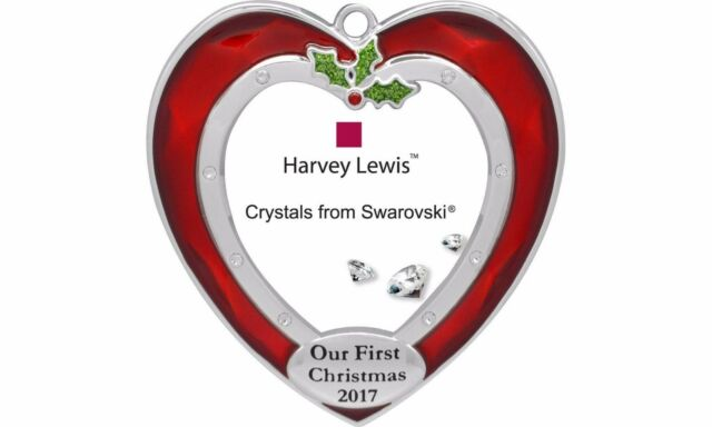 harvey lewis my first christmas 2017 heart shaped picture frame ornament