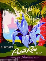 United States Discover Puerto Rico America Travel Advertisement Art Poster