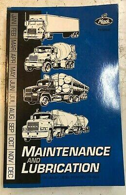 Mack Truck  maintenance and lubrication Service manual TS49407