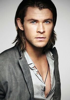 A1 - A5 SIZES AVAILABLE CHRIS HEMSWORTH GLOSSY WALL ART POSTER