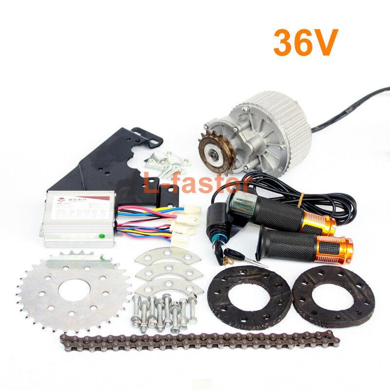Bicicleta Eléctrica 450W Kit de conversión de unidad de izquierda puede adaptarse a la mayoría de bicicleta común
