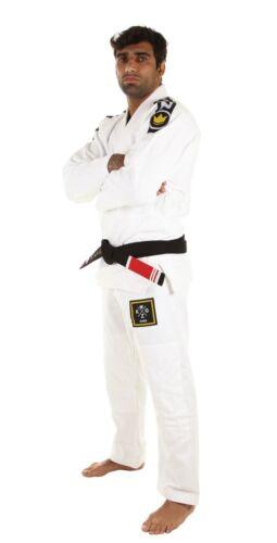 2.0 Weiß Bjj Gi Brasilianischer Jiu-Jitsu Kimono Uniform Gratis Kingz Grund