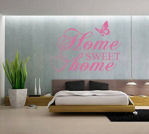 home sweet home butterfly vinyl wall art quote wall sticker decal uk