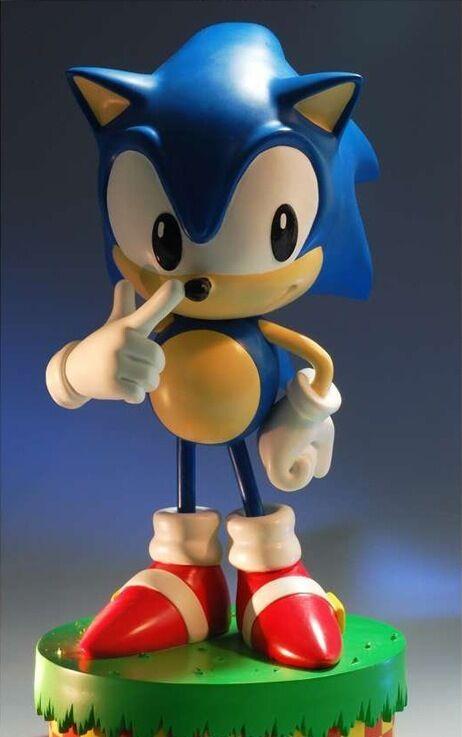 Usado Sonic The Hedgehog Primero 4 Figuras (F4F) Sega Sonic 30cm Raro