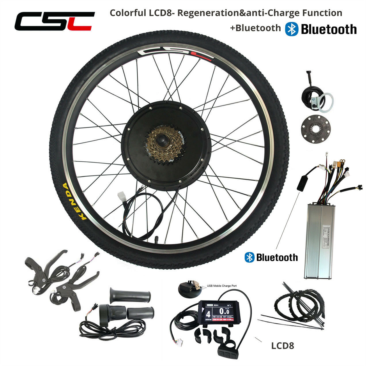 48V 100W 1500W Motor Wheel Electric Bike Kit Rear Wheel Motor with blueetooth
