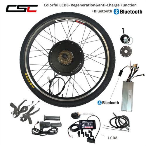 48 V Vélo électrique Kit de conversion Coloré LCD8 Régénération Anti-Charge Fonction