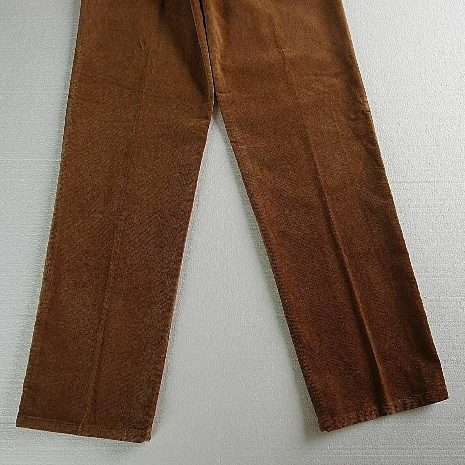 Vintage LANDLUBBER Brown sz 7 Pants Pleats High W… - image 5