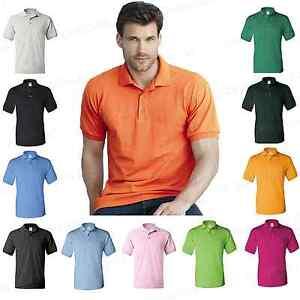 Gildan-DryBlend-Mens-Polo-Sport-Shirt-Classic-Fit-Jersey-T-Shirt-S-5XL-8800-PI