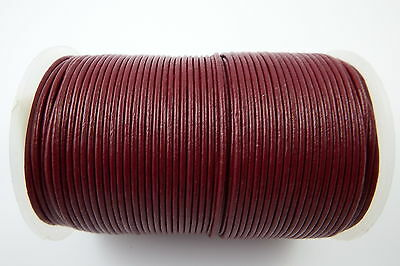 100% Real Round leather cord 1.5,2,3,4,5mm craft Necklace wrist jewellery tools