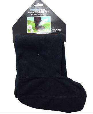 Kompetent Mens & Ladies Fleece Wellington Boot Socks Liners Wellie Welly Warm 6-11 4-7 QualitäT Zuerst