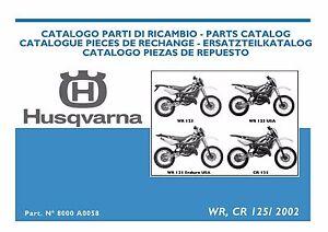 husqvarna wr cr 125 2002 service repair manual