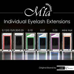 Mia Semi Permanent Individual Eyelash Extension Family Mink Silk 3D 6D 9D Volume