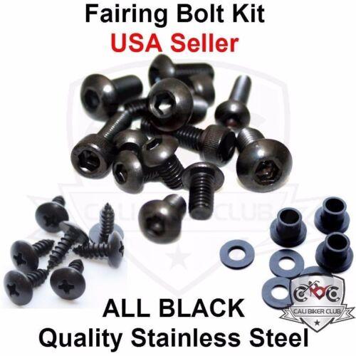 Black Fairing Bolt Kit Screws Bolts Washers Only for Honda CBR1000RR 2008-2011