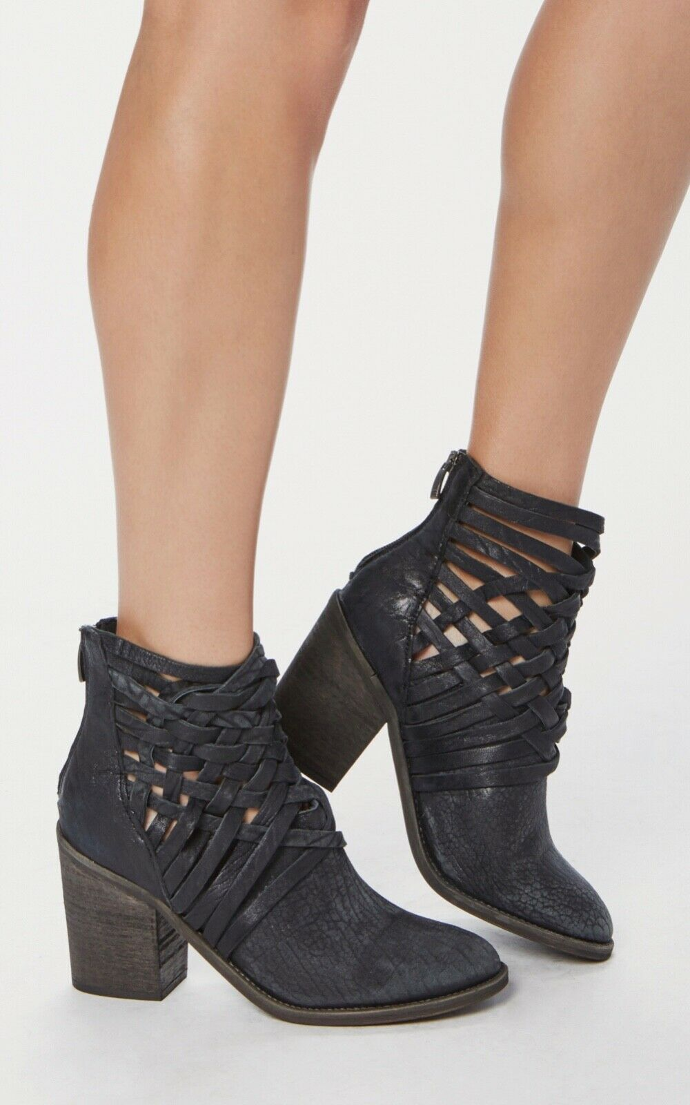 lo stile classico NEW Free People Carrera Woven Leather stivali Dimensione Dimensione Dimensione 37 nero Leather Heels  risparmiare sulla liquidazione