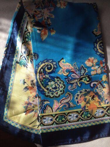 90 x 90 cm QUADRATO Sciarpa DONNA poliestere di alta qualità scialle Wrap