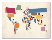 Michael tompsett dinosaur world map canvas art 22 x 32 in ebay item 3 trademark fine art abstract shapes world map by michael tompsett canvas 32x22 trademark fine art abstract shapes world map by michael tompsett gumiabroncs Image collections