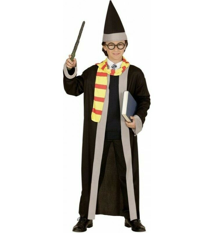 Childrens Wizard Costumes with Robe, Scarf and Hat Suitable for Boys and Girls