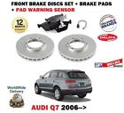 FOR AUDI Q7 4L 2006-> FRONT BRAKE DISCS SET + DISC PADS + PAD SENSOR