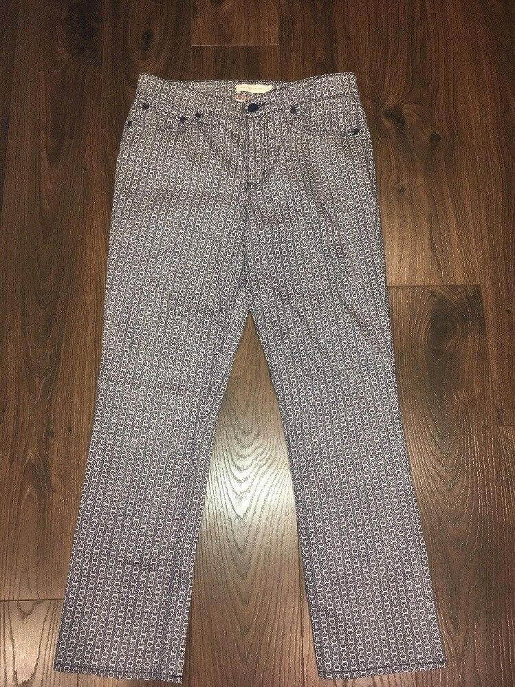 """Tory Burch Navy bluee & White  Pannier Cropped Straight Jeans,"""" Size 28 NWT   195"""