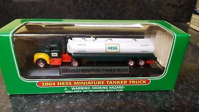 2004 Hess Miniature Tanker Truck lot of 2 trucks MINT NEW IN BOX