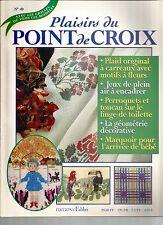 PLAISIRS DU POINT DE CROIX N°40 JEUX DE PLEIN AIR / PERROQUETS / GEOMETRIE DECO.
