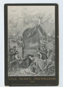 Vintage-Cabinet-Card-Deathbed-Kaiser-Wilhelm-I-Emperor-Germany-King-of-Prussia
