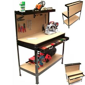 06060 werkbank xl werktisch arbeitstisch arbeitsplatte lochwand werkstatt regal ebay. Black Bedroom Furniture Sets. Home Design Ideas