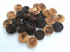 """1"""" High Quality Bethlehem Olive Wood Checkers Backgammon Game Chips Pieces"""