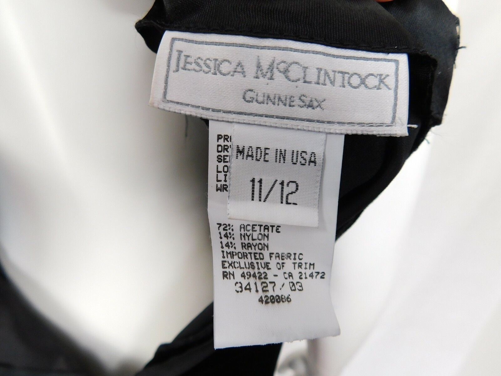 Vintage Jessica McClintock Gunne Sax Dress Size 1… - image 6