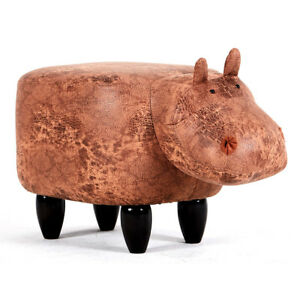 Phenomenal Details About New Soft Plush Ride On Ottoman Footrest Stool Animal Decor Cow Sheep Hippo Short Links Chair Design For Home Short Linksinfo