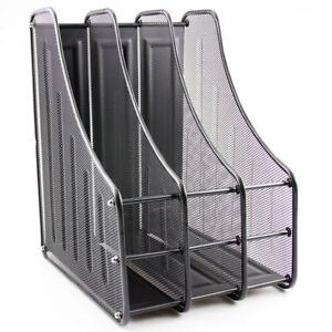 3 tier office desk document file magazine paper organiser. Black Bedroom Furniture Sets. Home Design Ideas