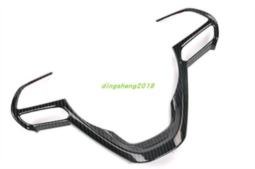 Carbon Fiber style Steering Wheel Frame Trim For Jeep Grand Cherokee 2014-2018