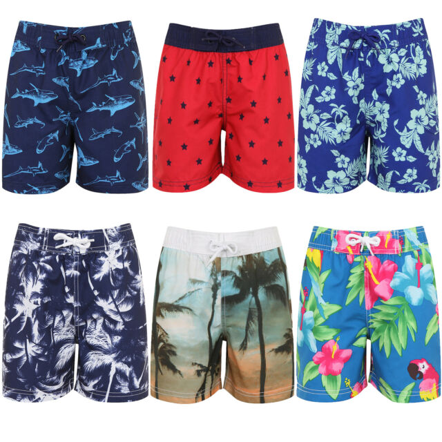 Nifty Kids Boys Printed Swimming Board Shorts Summer Hawaiian Beach Surf  Trunks for sale online | eBay