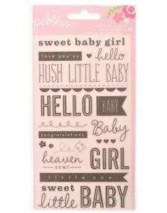 pebbles sweet baby girl watermark rub ons phrases american crafts ebay