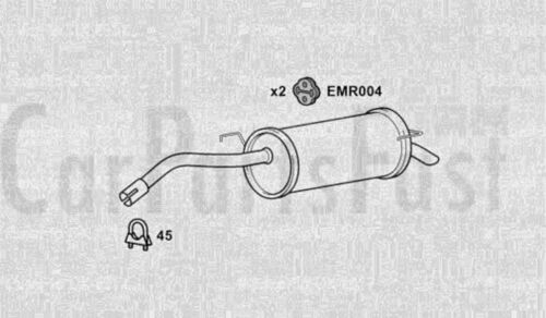 EXHAUST SILENCER to fit NISSAN NOTE 1.6 Petrol 2006-03-/> 2012-06 E11, NE11