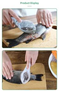 Fish Skin Brush-Scraping Fishing Scale Grater Remover Peeler Scaler Scraper Tool