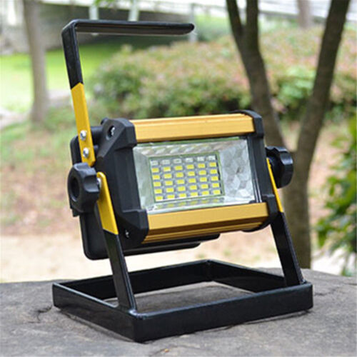 2X 36LED 50W Rechargeable Portable Outdoor Camping Flood Light Spot Work Lamp UK