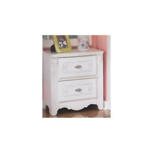 Signature Design By Ashley Furniture Exquisite 2 Drawer Nightstand In White