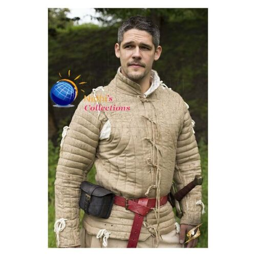 Medieval Gambeson Armor Thick padded Jacket Costumes dress coat Aketon sca larp