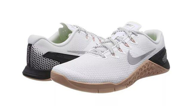 Nike Womens Metcon 4 WhiteRust PinkBlk CrossFit Training Size 11.5 924593 100