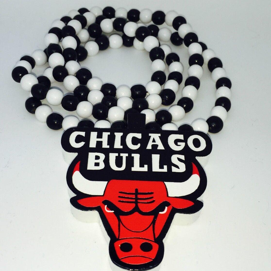 Halskette Bulls Herren Männer Hip Hop Chicago Biker Massiv Breit Panzer Silber