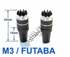 1Set M3 Thumb Stick Upgrade for FUTABA/Spektrum Transmitter, Black TH016-03002E