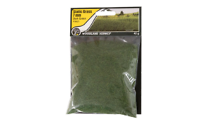 Woodland Scenics FS621 7mm Static Grass Dark Green 42 gram Bag