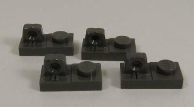 LEGO Parts~ Hinge Plate 1 x 2 Locking w Finger On Top 30383 DARK GRAY old 4